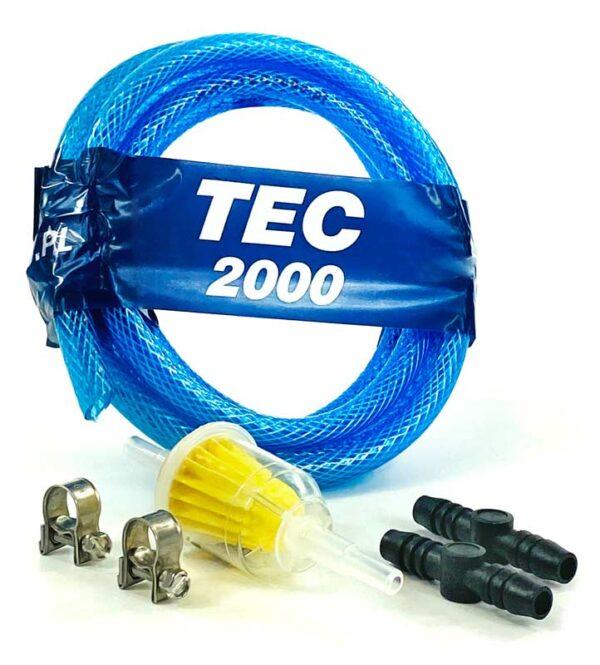 Zestaw 8 mm (filtr paliwa, wąż, łączniki, zaciski)